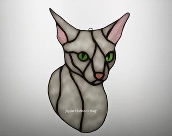 Cornish Rex Cat Suncatcher