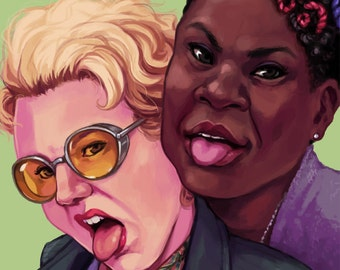 Ghostbusters Fanart Print - Making Faces
