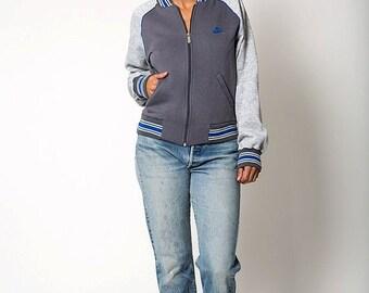 30% off SPRING SALE The Vintage Heather Grey Nike Retro Zip Up Jacket