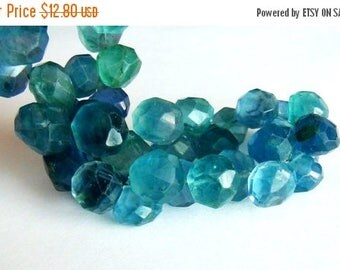 SALE Blue Fluorite faceted onion briolette