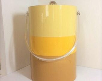 Vintage Tri Color Vinyl Bucket Brigade Ice Bucket
