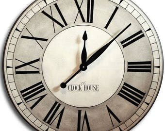 FATHER'S DAY 30in OXFORD Linen-Large Clock-Oversized Wall Clock-Big Clock-Family Heirloom-Wedding Gift-Free Inscription