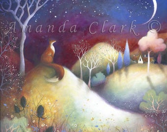 Starry Meadows. Art Print - By Amanda Clark.