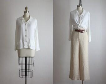 ivory crepe blouse