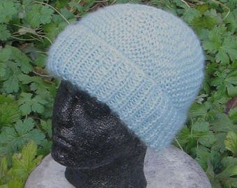 50% OFF SALE Instant Digital File PDF Download knitting pattern -Chunky Garter Stitch Beanie Hat pdf download knitting pattern