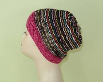 50% OFF SALE Instant Digital File knitting pattern - Himalaya Stripe Beanie pdf download circular knitting pattern.
