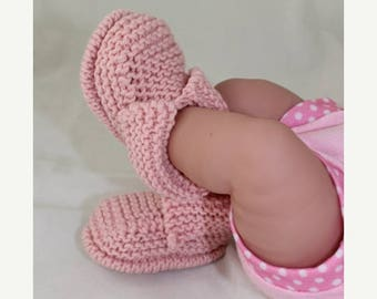 50% OFF SALE Instant Digital File PDF Download - Baby's First Booties Bootees  knitting pattern