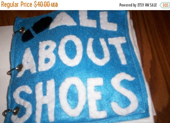 Flash Sale All About Shoes... Felt Toddler Quiet Book... Durable