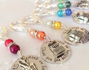 SET OF 5. Daycare jewelry, day care teacher accessories, ece teacher, keychain, purse clip, zipper pull.