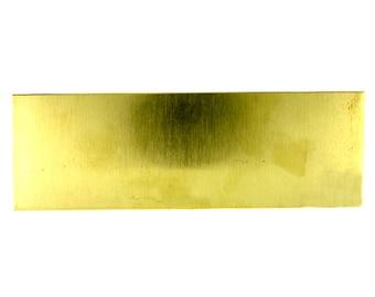 "Yellow Brass Sheet 26ga 6"" x 2"" .41mm Thick"