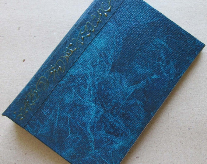 Refillable Journal Handmade Distressed Navy Blue Original 6x4 traveller notebook