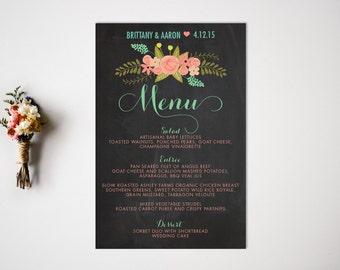 Wedding Menu  Reception  Vintage Wedding Decor  Reception Menu  Dinner Menu  Wedding Menu Card  Buffet Menu  Food Cards