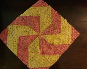 Antique Early 1900 Pinwheel Quilt Block ~ Use for Fabric Art or Prim Crafts