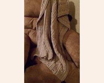 Mens Afghan Pattern, Masculine Decor, Tan Brown Blanket, Mens Crochet, Man Cave Throw, Downloadable Pattern