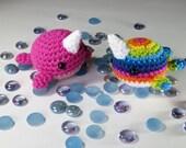 Made-to-Order - Pink Blob Narwhal Amigurumi