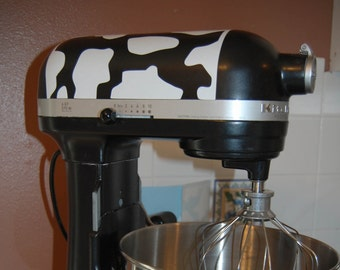 Stand up Mixer Cow Print Vinyl Decal, Kitchen Mixer Decal, Kitchen Decor, Cow Print