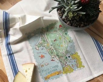 Marin County Map Kitchen/Tea Towel