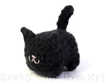Black Kitty Cat Yami Amigurumi Crochet Stuffed Plush Desk Toy