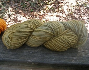 Dull Lichen-4 Ounce Worsted Skein--Wool Mohair Blend--180 Yards--Plant Dyed