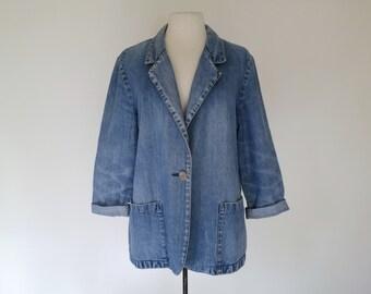 JOANNA // 70s or 80s denim blazer jacket