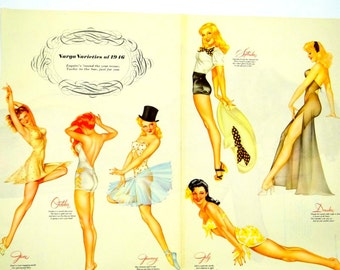 Varga Varieties from 1946 Esquire Magazine Four Page Foldout