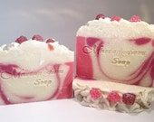 Pink Berry Mimosa-Cold Process-Soap-Handmade-Soap-Artisan-Handcrafted-Gift For Her-Luxurious-Abbotsford-BC-Canada