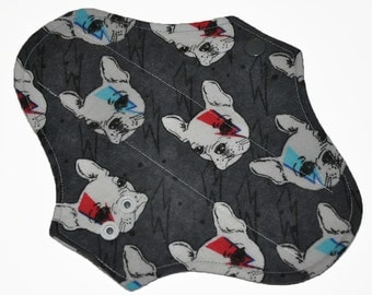 Liner Core- Stardust Puppies Flannel Reusable Cloth Pantyliner Pad- 8.5 Inches