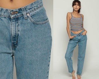 Levis Jeans Mom Jeans High Waist Levi Jeans 80s Jeans Denim Pants 512 Tapered Baggy 90s Vintage Faded Blue Hipster Medium 29