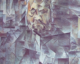 Portrait of Ambroise Vollard/Violin and Palette, Cubism, Modern Art, 1970 2-Sided Book Page, Fine Art Print, Color Plate