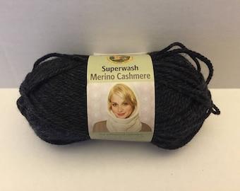Lion Brand Superwash Merino Cashmere Yarn - Charcoal Heather