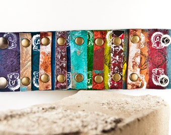Turquoise Multi Color Leather Jewelry