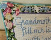 Needlepoint GRANDMOTHERS Pillow