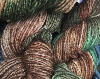 Alpaca Yarn, 100% Superfine Alpaca, DK Weight, Paca-Paints, Into The Pines