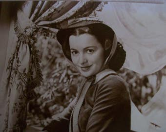 Gone with the Wind Olivia de Havilland 8X10 Sepia Photograph, 1940's