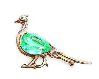 Reja Unsigned Sterling Pheasant Figural Bird Brooch