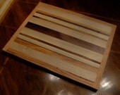 Butcher Block Cutting Board Made From Multiple Hardwoods