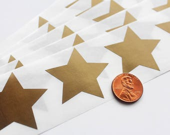 """Scratch Off GOLD Star (500) Label 1.5"""" 5 point star scratch-off labels stickers for schools teachers games & promotions"""