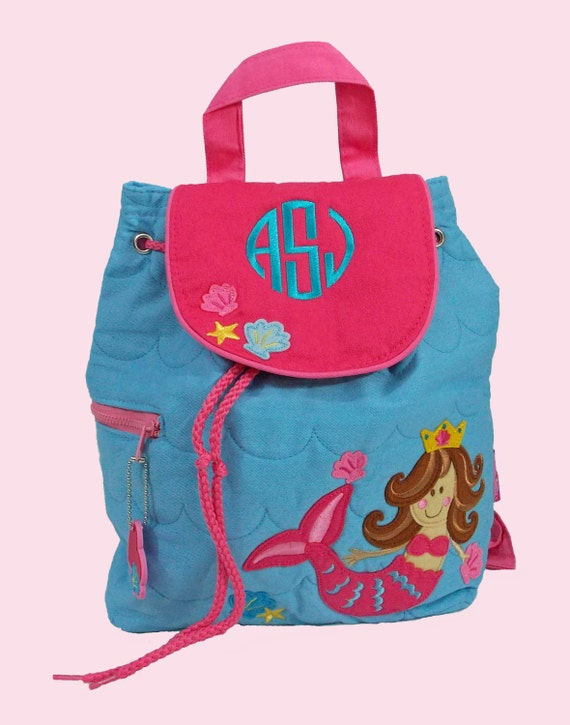 Personalized Child's Stephen Joseph Quilted Toddler MERMAID Backpack-Monogrammiong Is Included
