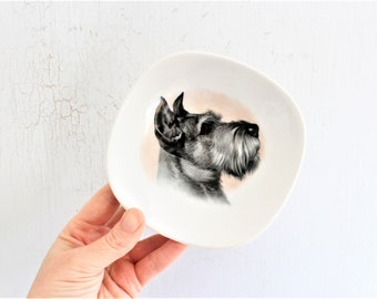 vintage scottish terrier dog trinket bowl