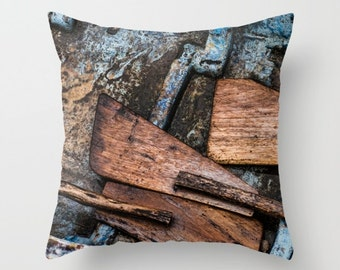 Wooden Boat Paddles Oars Nauticial Pillow Cover