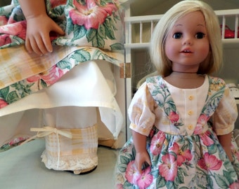 18 Inch Doll Clothes / Doll Dress And Doll Pantaloons / Doll Clothes / Doll Outfit / Doll Clothing / Doll Accessories  - 1090