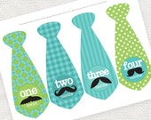printable moustache mustache monthly ties baby stickers boy month photo milestone stickers instant download turquoise green t-shirt transfer