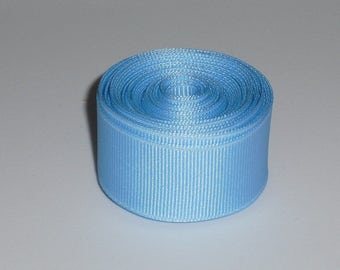 Blue 7/8 inch Solid Grosgrain Ribbon 10 yards