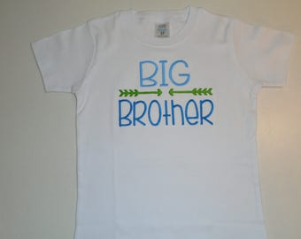 Boys, Big Brother Shirt, Birth Announcement, Free Personalization