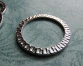 32mm Rhodium Radiant Ring, Rhodium Finish, 32mm Ring, Large Ring, Charm Holder, Large Radiant Ring, Circle, Large Circle, TierraCast,