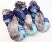 Stormy Skies - Hand Dyed Superwash Merino Sock Yarn