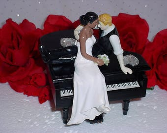 musical wedding cake toppers piano cake topper etsy 17665