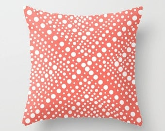 OUTDOOR Throw Pillow - Coral Outdoor Pillow - Modern Geometric Patio Cushion - Outdoor Pillow 16 18 20 inch - Patio Pillow Outdoor