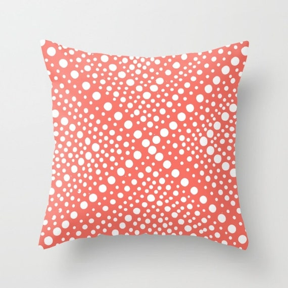 OUTDOOR Throw Pillow . Coral Outdoor Pillow . Modern Geometric Patio Cushion . Rectangle Outdoor Pillow 16 18 20 inch . Patio Pillow Outdoor