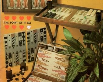 Backgammon Board Games Dogs Lighthouses Seashells Mallards Ducks Counted Cross Stitch Needlepoint Embroidery Pattern Craft Leaflet